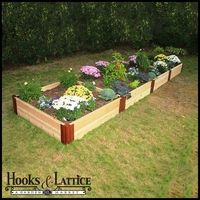 "4'x16'x12"" Western Red Cedar Raised Garden Bed"