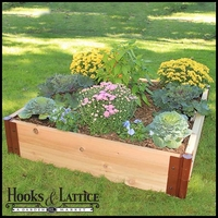 "4'x4'x12"" Western Red Cedar Raised Garden Bed"