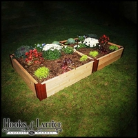 "4'x8'x12"" Western Red Cedar Raised Garden Bed"