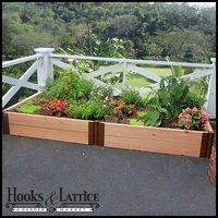 """4'x8'x12"""" with 2"""" Thick Cedar Timbers, protective liner"""