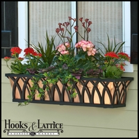 "42"" Arch Decora Window Box  w/ Real Copper Liner"