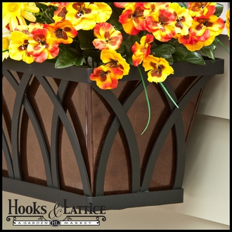 "42"" Arch Decora Window Box with Oil-Rubbed Bronze Galvanized Liner"