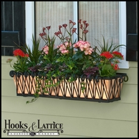 "42"" Del Mar Decora Window Box w/ Real Copper Liner"