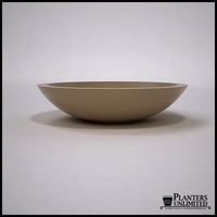 "42""Dia. x 10""H Modern Low Bowl Planter"