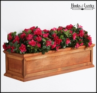 """42"""" Redwood Framed Cottage Window Box  with Easy UP Cleat"""