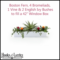 "42"" Window Box Recipe - Artificial Tropical Flowers"