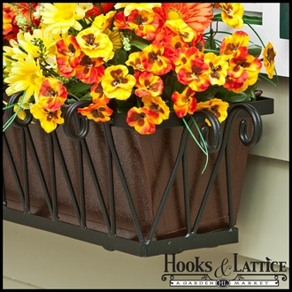 42in. Del Mar Decora Window Box w/ Textured Bronze Liner