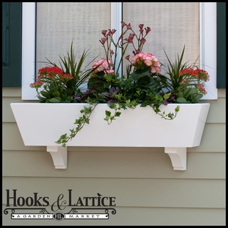 42in. Tapered Urban Chic Premier Window Box w/ *Easy Up* Cleat Mounting System