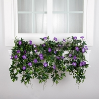 42in. Window Box Recipe - Outdoor Artificial Morning Glory Vines