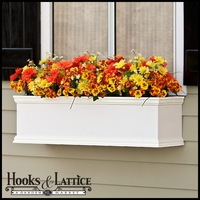 42in. XL Laguna Premier  Composite Window Box w/ *Easy Up* Cleat Mounting System