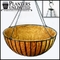 "42in. XL ""Mega"" Hanging Flower Basket, Commercial Strength - includes Coconut Coir Liner & Heavy Duty Swivel Hook"
