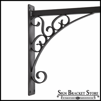 "43"" Florence Lower Scroll Sign Bracket"