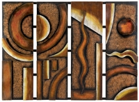 """44""""W x 31""""H Rich Copper Abstract Wall Decor"""