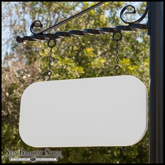 "46"" x 23"" Round-Corner Rectangle Sign Blank"