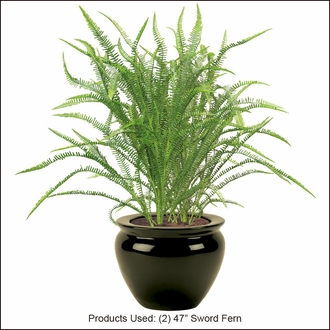 47in. Artificial Sword Fern- Outdoor Rated