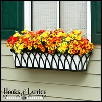 "48"" Arch Decora Window Box with White Galvanized Liner"