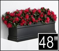 48in. Black Supreme Fiberglass Window Box
