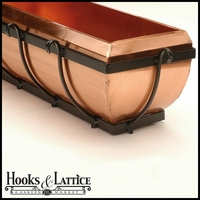 "48"" Copper Scroll Window Box"