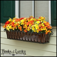 48in. Del Mar Decora Window Box w/ Oil- Rubbed Bronze Galvanized Liner