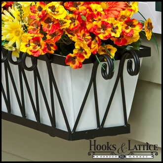 48in. Del Mar Decora Window Box w/ White Galvanized Liner