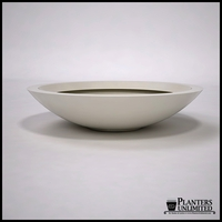 "48""Dia. x 11""H Modern Low Bowl Planter"