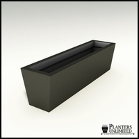 Modern Tapered Fiberglass Commercial Planter 48in.L x 12in.W x 12in.H