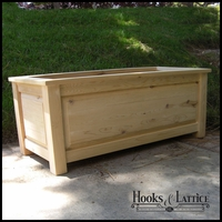 "48""L x 24""W x 16""H Deluxe Raised Panel Deck Planter"