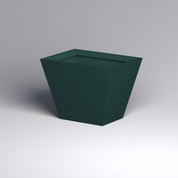 Modern Tapered Fiberglass Commercial Planter 48in.L x 36in.W x 36in.H