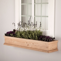 48in. Laguna Cedar Window Box with Optional Liner
