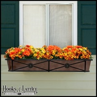 "48"" Medallion Decora Window Boxes w/ Bronze Galvanized Liner"