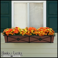 "48"" Medallion Decora Window Boxes w/ Textured Bronze Liners"
