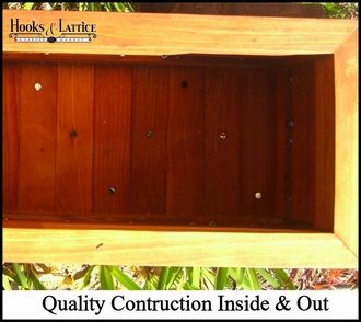 "48"" Redwood Framed Cottage Window Box with Easy UP Cleat"