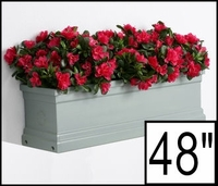 48in. Slate Grey Supreme Fiberglass Window Box