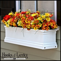 "48"" Supreme Flowerbox  Window Box - White"