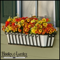"48"" Venetian Decora Window Box with White Galvanized Liner"