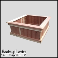 "48""x48""x12"" Redwood Raised Bed"