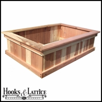 "48""x72""x12"" Redwood Raised Bed"