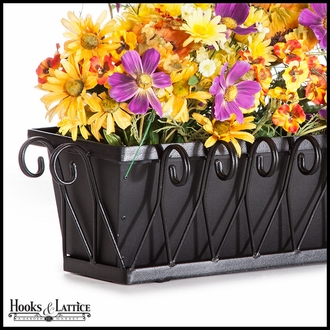 48in. Del Mar Decora Window Box w/ Black Tone Galvanized Liner