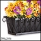 24in. Del Mar Decora Window Box w/ Black Tone Galvanized Liner