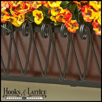 48in. Del Mar Decora Window Box w/ Textured Bronze Liner