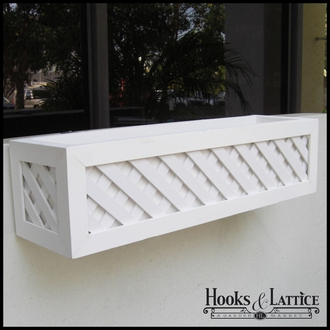 48in. Lattice Premier Window Box w/ *Easy Up* Cleat Mounting System