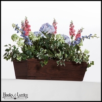 42in. Modern Farmhouse Window Box - Reclaimed Cherry Finish
