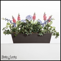42in. Modern Farmhouse Window Box - Reclaimed Dark Hickory Finish