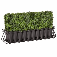 30in. Outdoor Artificial Ivy Hedge with European Cage w/ Liner Window Box