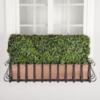 48in. Outdoor Artificial Ivy Hedge with European Cage w/ Liner Window Box