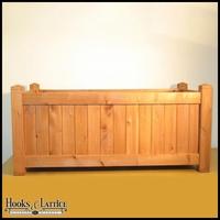 48in. Rectangle Slatted Cedar Planter