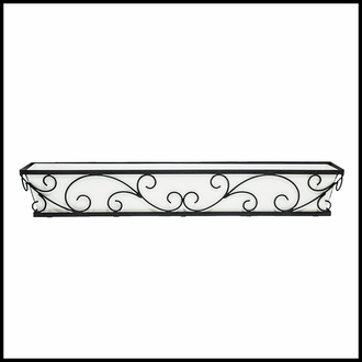 48in. Regalia Decora Window Box with White Galvanized Liner