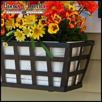 48in. Santiago Decora Window Box w/ (2) Vinyl Liners