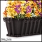 60in. Venetian Decora Window Box w/ Black Tone Galvanized Liner