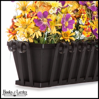 42in. Venetian Decora Window Box w/ Black Tone Galvanized Liner